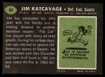 1969 Topps #84   Jim Katcavage Back Thumbnail