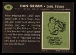 1969 Topps #46  Dan Grimm  Back Thumbnail