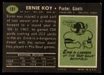 1969 Topps #131   Ernie Koy Back Thumbnail