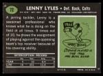 1969 Topps #72   Lenny Lyles Back Thumbnail