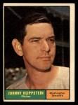 1961 Topps #539   Johnny Klippstein Front Thumbnail