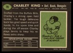 1969 Topps #79  Charley King  Back Thumbnail