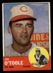 1963 Topps #70   Jim O'Toole Front Thumbnail