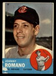 1963 Topps #72  John Romano  Front Thumbnail