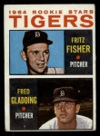1964 Topps #312   Tigers Rookie Stars  -  Fritz Fisher / Fred Gladding Front Thumbnail