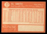 1964 Topps #317  Al Smith  Back Thumbnail