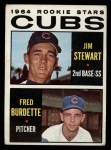 1964 Topps #408   Cubs Rookie Stars  -  Jim Stewart / Fred Burdette Front Thumbnail