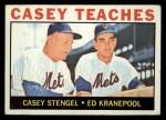 1964 Topps #393  Casey Teaches  -  Casey Stengel / Ed Kranepool Front Thumbnail