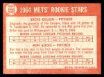 1964 Topps #556   Mets Rookie Stars  -  Steve Dilion / Ron Locke Back Thumbnail