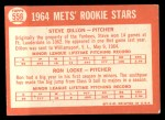 1964 Topps #556  Mets Rookies  -  Steve Dilion / Ron Locke Back Thumbnail