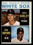 1964 Topps #368  White Sox Rookies  -  Fritz Ackley / Don Buford Front Thumbnail