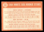 1964 Topps #368  White Sox Rookies  -  Fritz Ackley / Don Buford Back Thumbnail