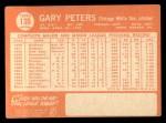 1964 Topps #130   Gary Peters Back Thumbnail