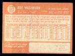 1964 Topps #332  Ray Washburn  Back Thumbnail