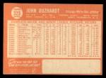 1964 Topps #323   John Buzhardt Back Thumbnail