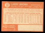1964 Topps #301   Larry Brown Back Thumbnail