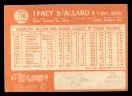1964 Topps #176  Tracy Stallard  Back Thumbnail