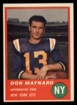 1963 Fleer #15  Don Maynard  Front Thumbnail