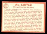 1964 Topps #232   Al Lopez Back Thumbnail