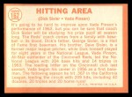 1964 Topps #162  Hitting Area  -  Dick Sisler / Vada Pinson Back Thumbnail