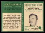 1966 Philadelphia #6  Alex Hawkins  Back Thumbnail