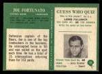 1966 Philadelphia #33   Joe Fortunato Back Thumbnail