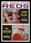 1964 Topps #33   Reds Rookie Stars  -  Sammy Ellis / Mel Queen Front Thumbnail