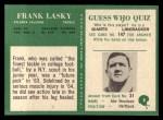 1966 Philadelphia #8  Frank Lasky  Back Thumbnail