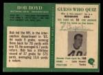 1966 Philadelphia #16   Bob Boyd Back Thumbnail