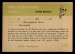 1961 Fleer #146   Bob McNamara Back Thumbnail