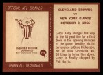 1967 Philadelphia #193  Cleveland Browns  Back Thumbnail