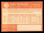 1964 Topps #275 COR  John Tsitouris Back Thumbnail