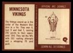 1967 Philadelphia #97   Minnesota Vikings Team Back Thumbnail