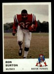 1961 Fleer #179   Ron Burton Front Thumbnail