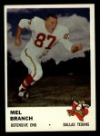 1961 Fleer #208   Mel Branch Front Thumbnail