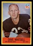 1967 Philadelphia #130  Dave Whitsell  Front Thumbnail
