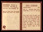 1967 Philadelphia #30  Dick Gordon  Back Thumbnail