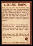 1967 Philadelphia #48   Cleveland Browns Logo Back Thumbnail