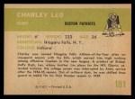 1961 Fleer #181   Charles Leo Back Thumbnail