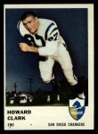 1961 Fleer #159   Howard Clark Front Thumbnail