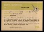 1961 Fleer #204   Chris Buford Back Thumbnail