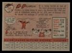 1958 Topps #259  Al Pilarcik  Back Thumbnail