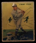 1934 Goudey #1   Jimmie Foxx Front Thumbnail