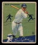 1934 Goudey #9   Ben Chapman Front Thumbnail