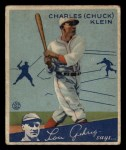 1934 Goudey #10   Chuck Klein Front Thumbnail