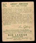 1934 Goudey #72   Arndt Jorgens Back Thumbnail