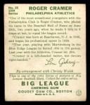 1934 Goudey #25   Roger Cramer Back Thumbnail