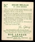 1934 Goudey #45  Oscar Melillo  Back Thumbnail