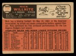 1966 Topps #171   Nick Willhite Back Thumbnail