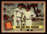 1962 Topps #137 GRN Babe and Mgr. Huggins  -  Babe Ruth / Miller Huggins Front Thumbnail